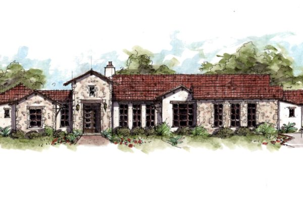 Tuscan House Drawing