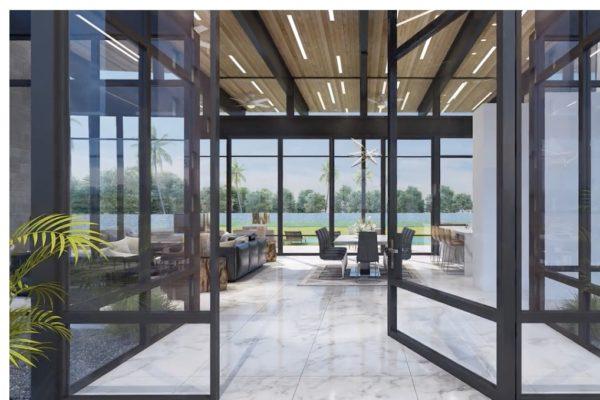 San Antonio Custom Home - Contemporary Glass Window Door