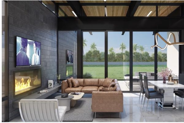 San Antonio Custom Home - Contemporary Living Room