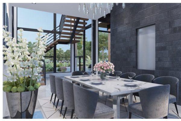 San Antonio Custom Home - Contemporary Dining Area