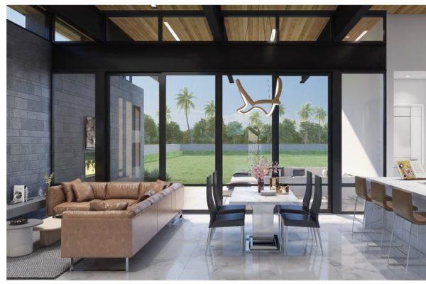 San Antonio Custom Home - Contemporary Open Concept Floor Plan