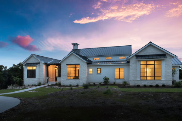 Boerne Custom Home - Modern Farmhouse Sunset
