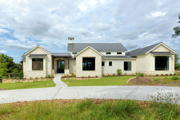 Boerne Custom Home - Modern Farmhouse Front Elevation