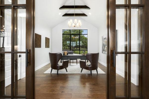 Boerne Custom Home - Modern Farmhouse Office