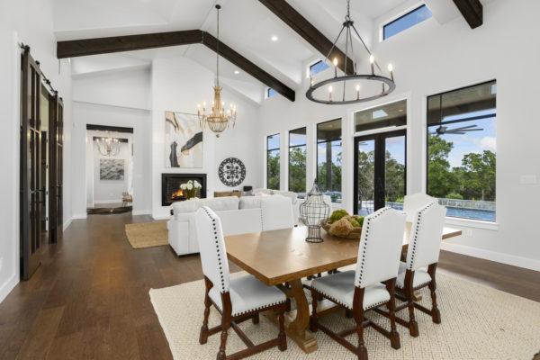 Boerne Custom Home - Modern Farmhouse Kitchen Table