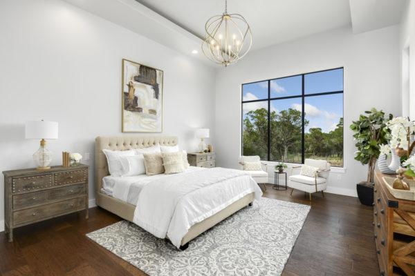 Boerne Custom Home - Modern Farmhouse Master Bedroom