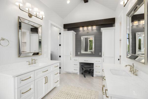 Boerne Custom Home - Modern Farmhouse Master Bathroom