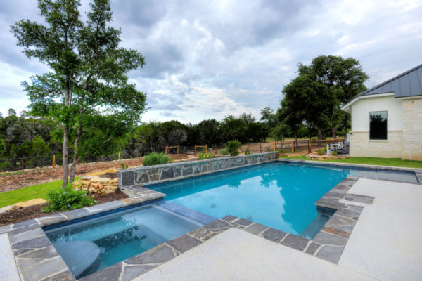 Boerne Custom Home - Modern Farmhouse Pool
