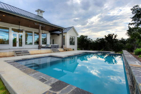 Boerne Custom Home - Modern Farmhouse Pool and Patio