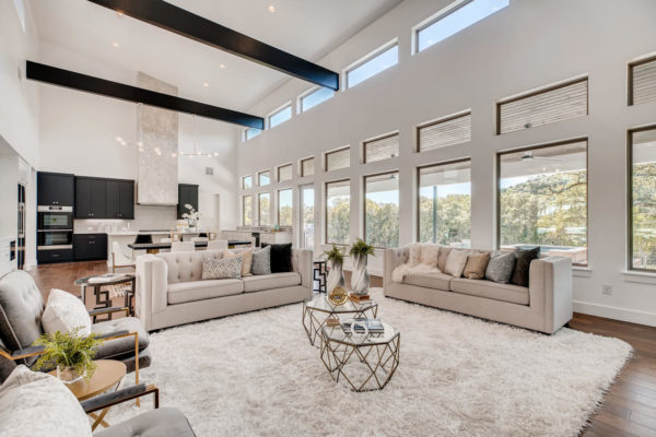 San Antonio Custom Home - Natural Light Living Room