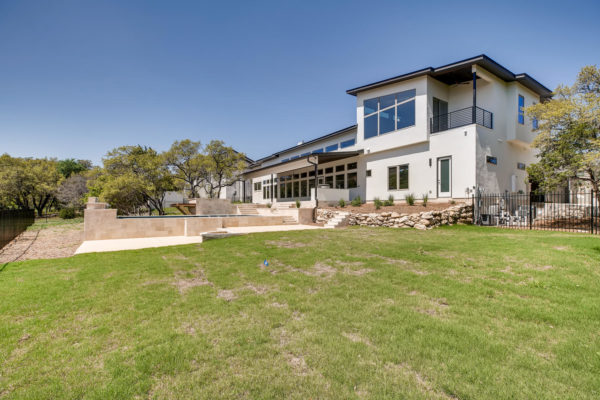 San Antonio Custom Home - Back Elevation - Hidden Canyon