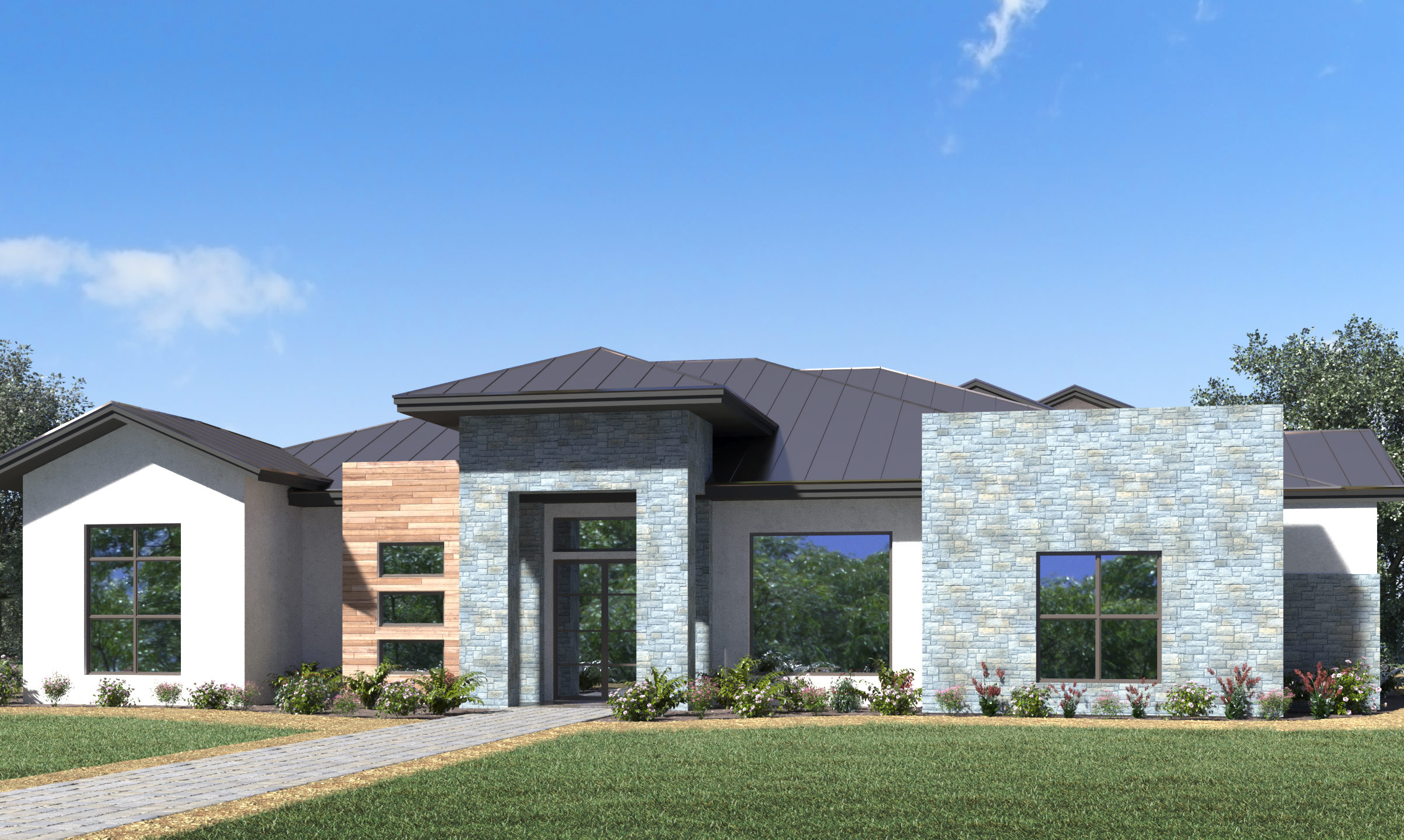 San Antonio Custom Home - Elevation Picture