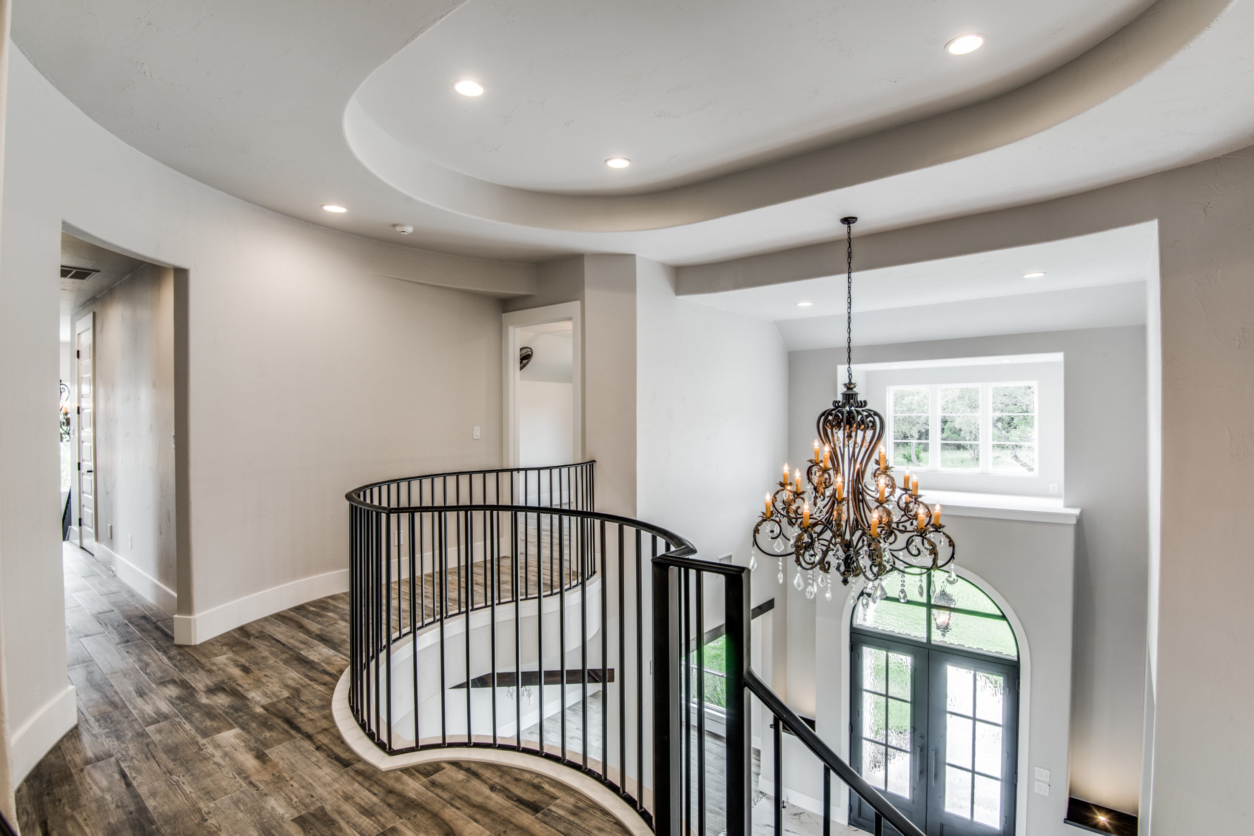 Boerne Custom Home - Stairwell View