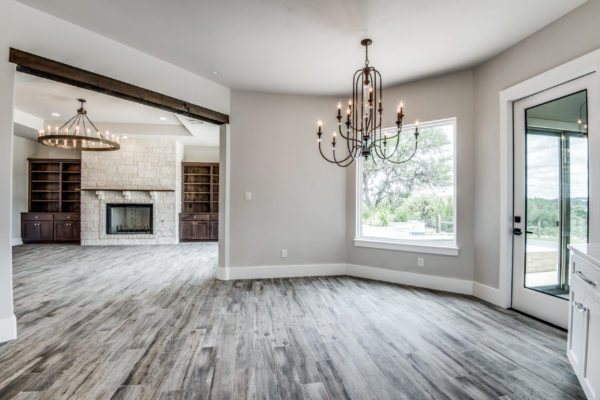 Boerne Custom Home - Kitchen Table Area
