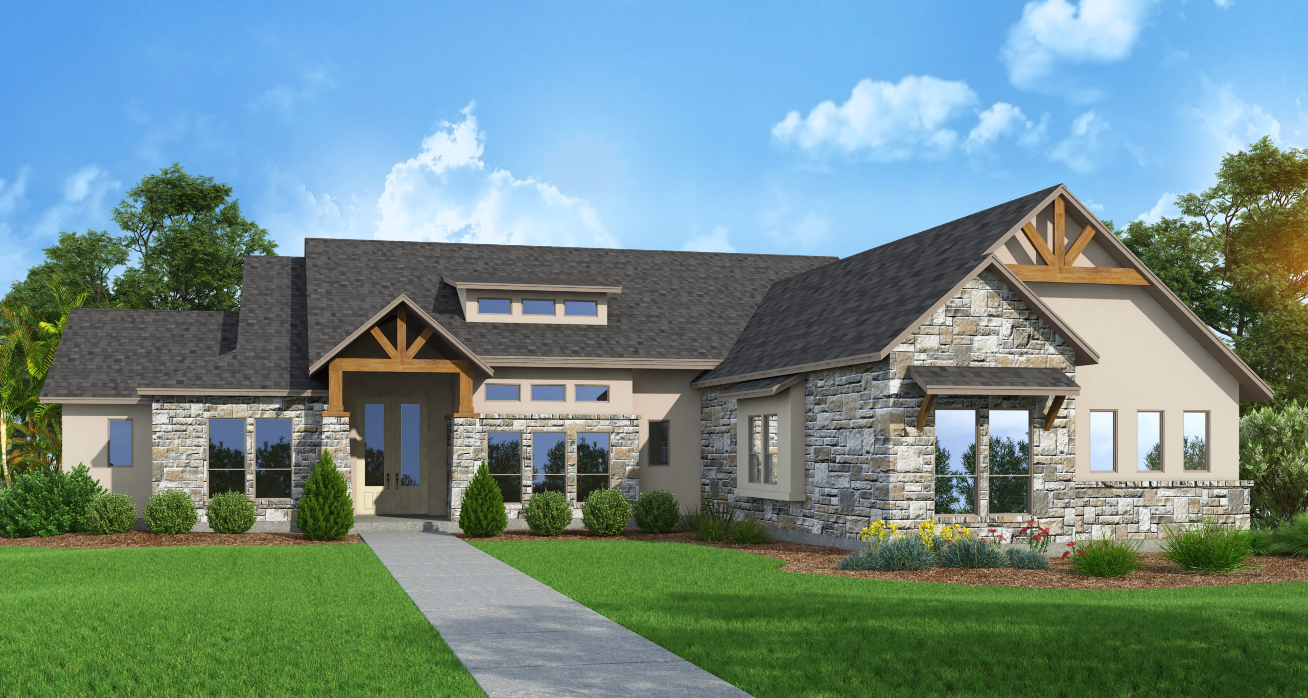New Braunfels Custom Home - Vintage Oaks Model Home