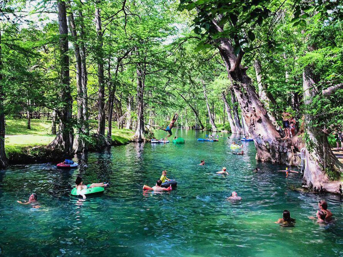 Floating the river in the Texas Hill Country