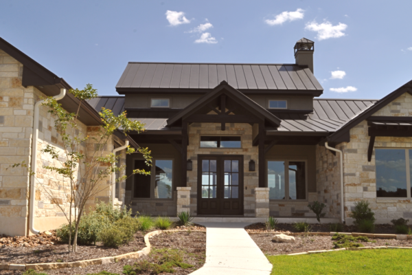 Hill Country Transitional Front Elevation