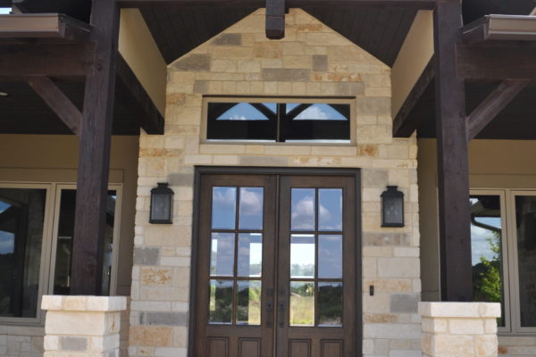 Hill Country Transitional Front Entry
