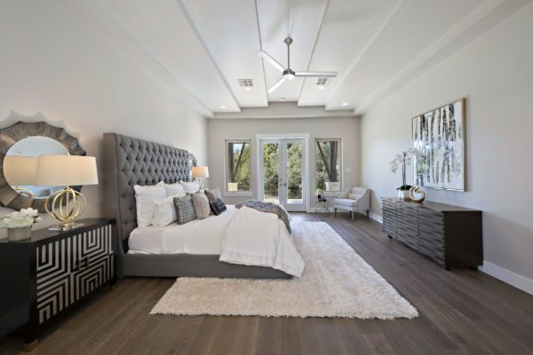 Luxury Modern Master Bedroom with Windows